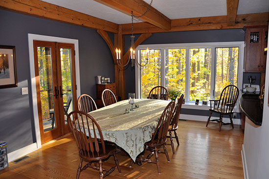 Dining Room OH Houses Timber Frame Home