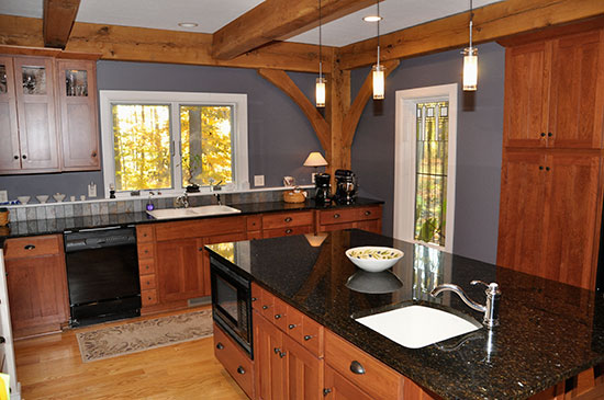 Kitchen Chardon OH Houses Timber Frame Home