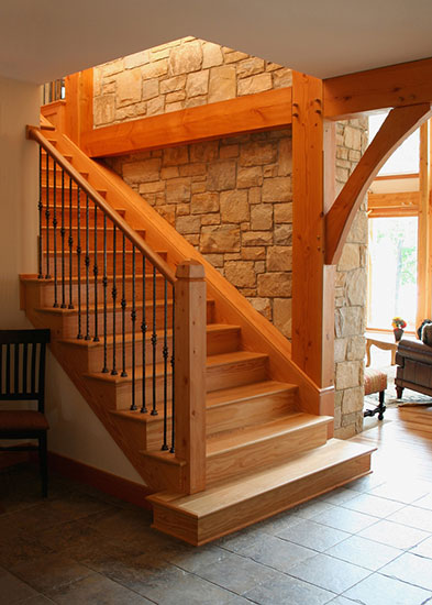 Stairs Marblehead OH Houses Timber Frame Home
